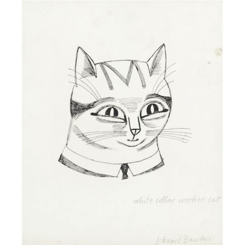 Edward Bawden White Collar Worker Cat