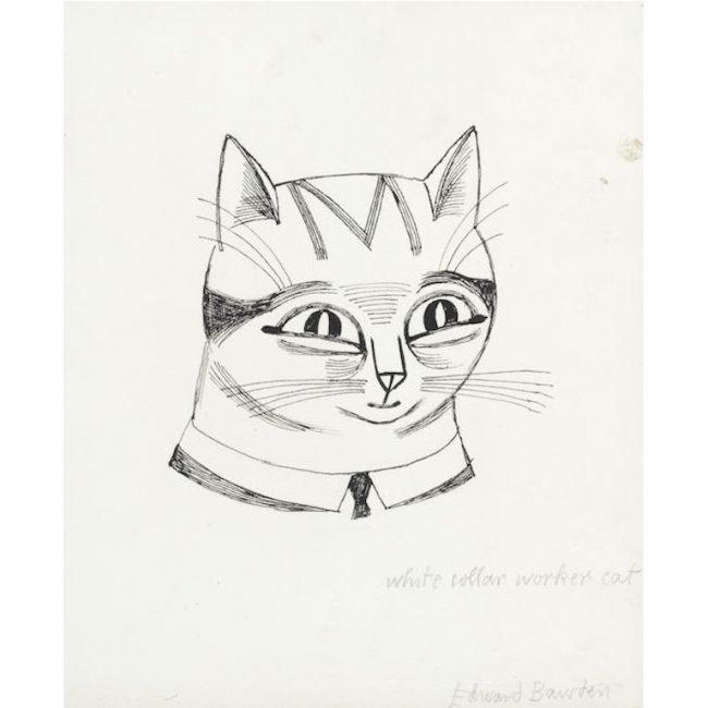Edward Bawden White Collar Worker Cat