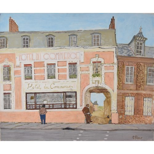 Richard Beer Hotel du Commerce oil painting
