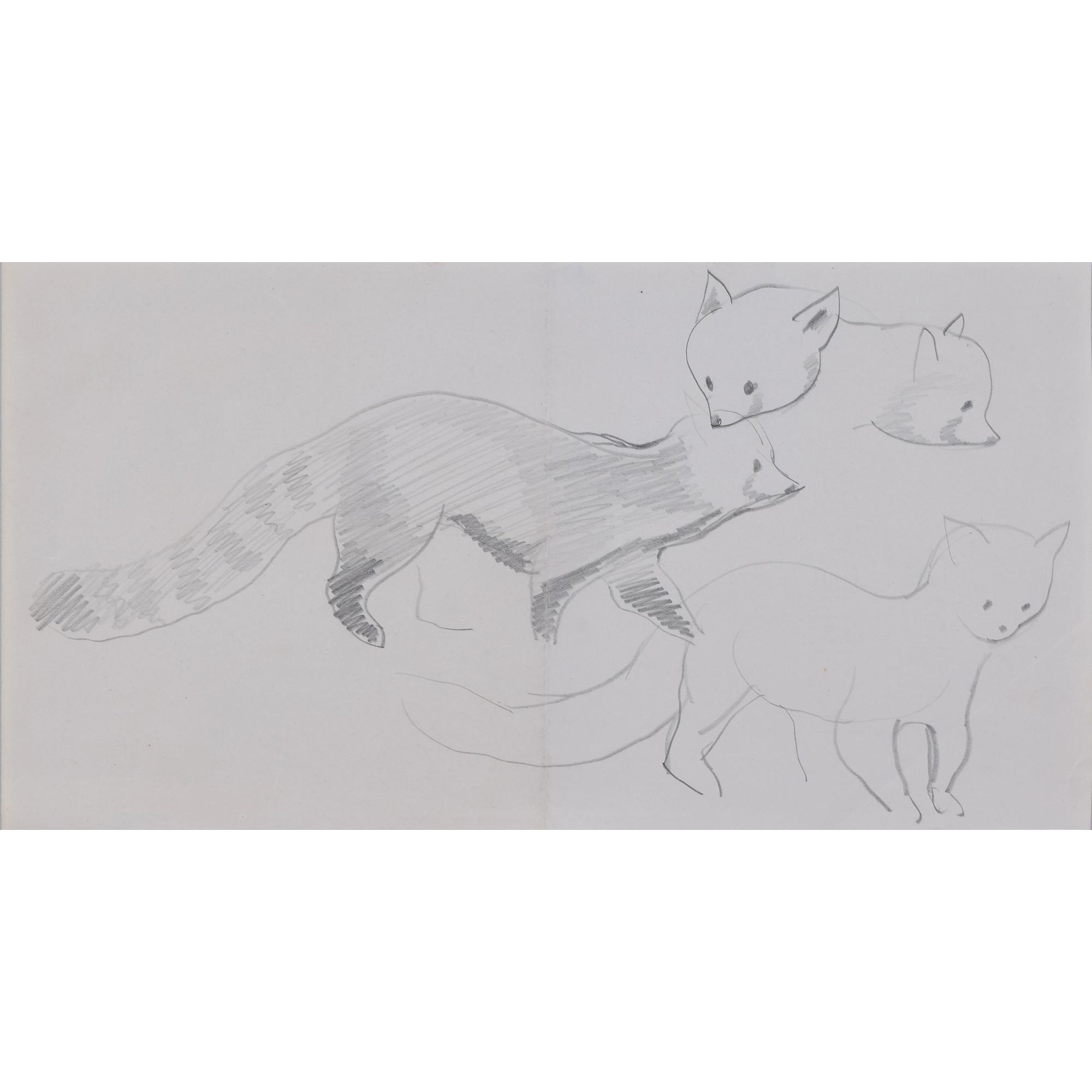 Clifford Ellis Chico Red Panda pencil sketch