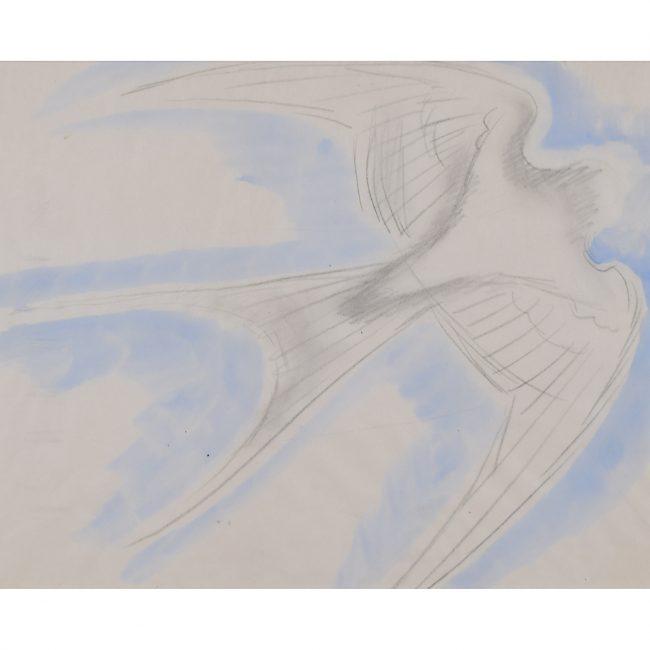Clifford Ellis Swallow watercolour