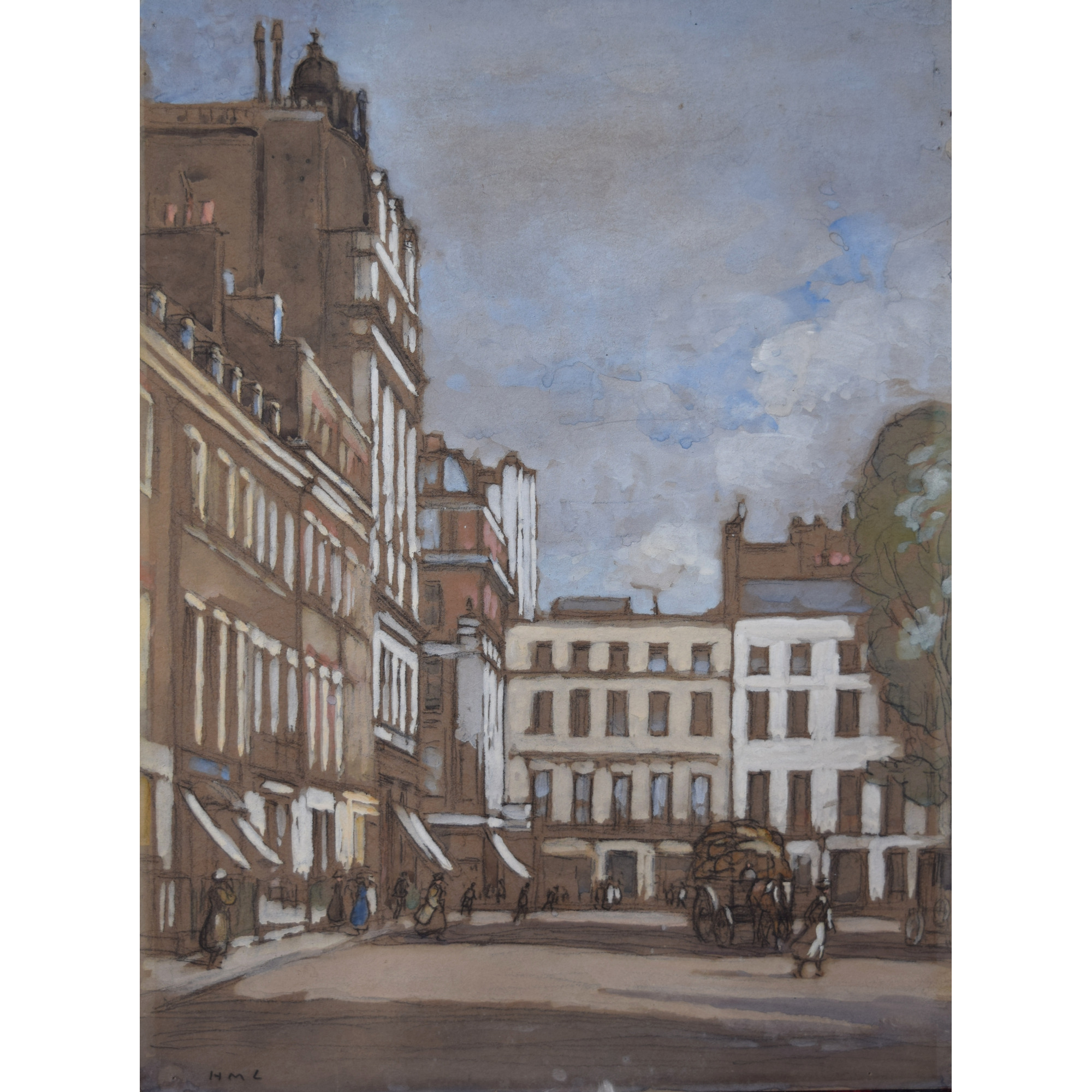 Horace Mann Livens Hanover Square London gouache painting