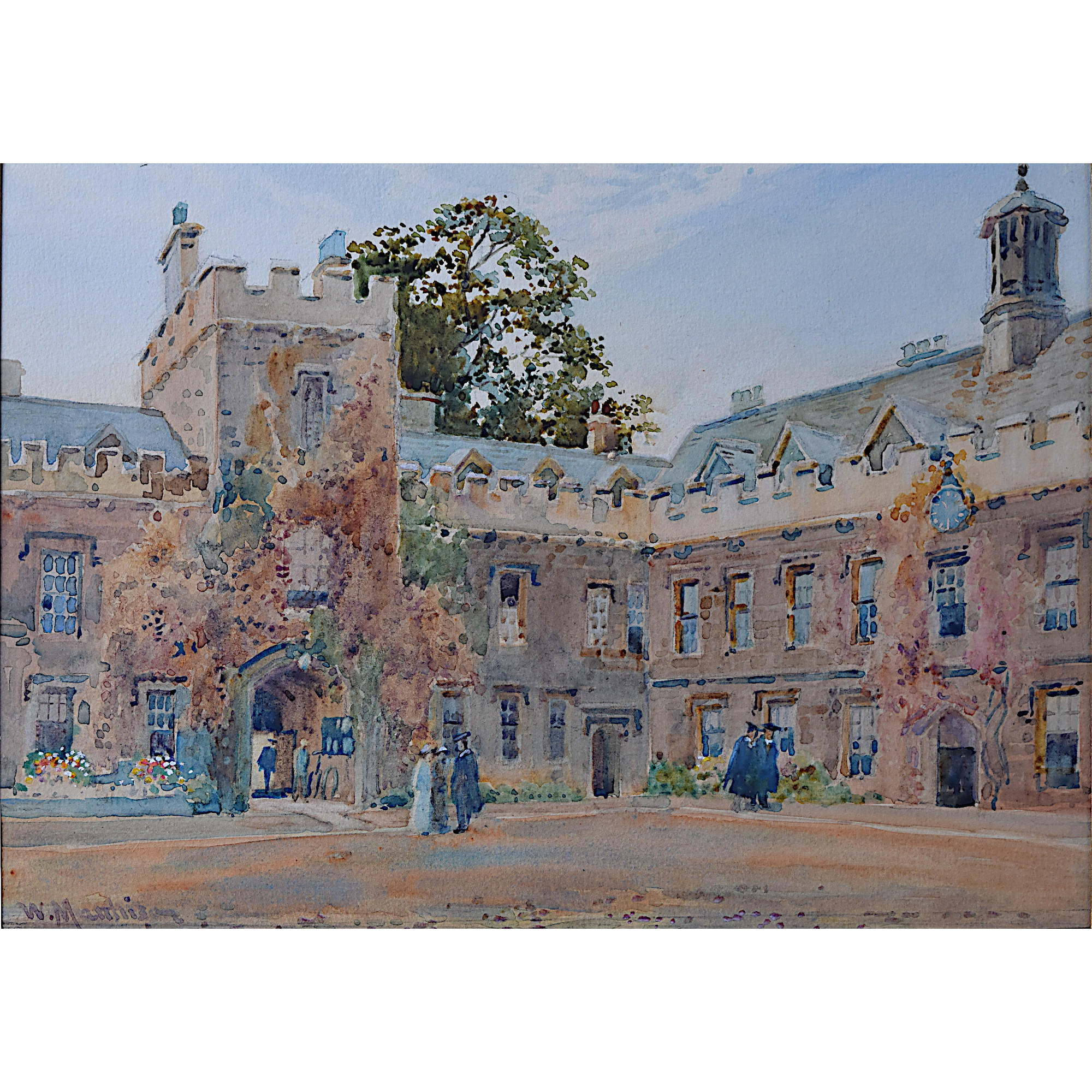 William Matthison Lincoln College Oxford watercolour