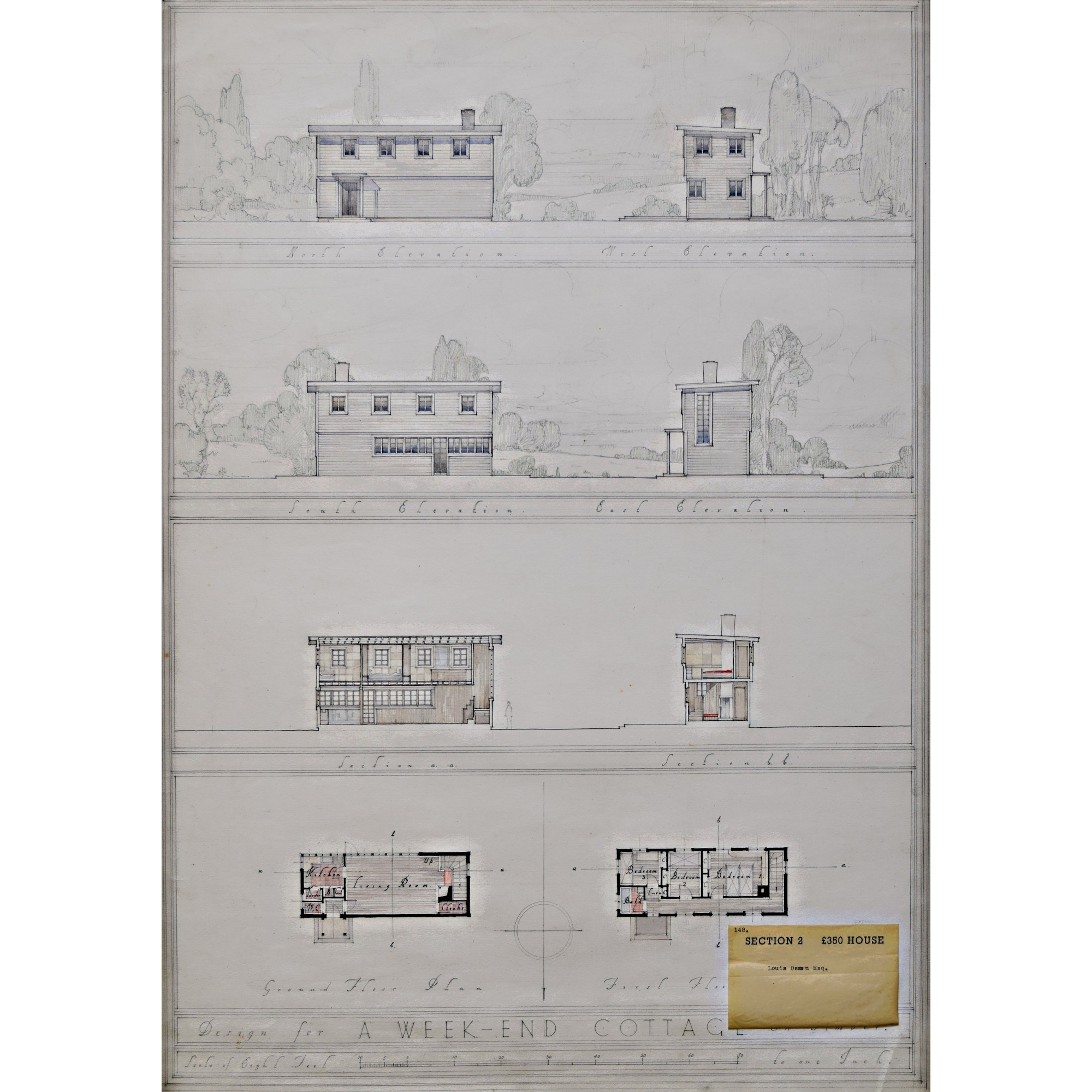 Louis Osman design for 350 pound modernist house