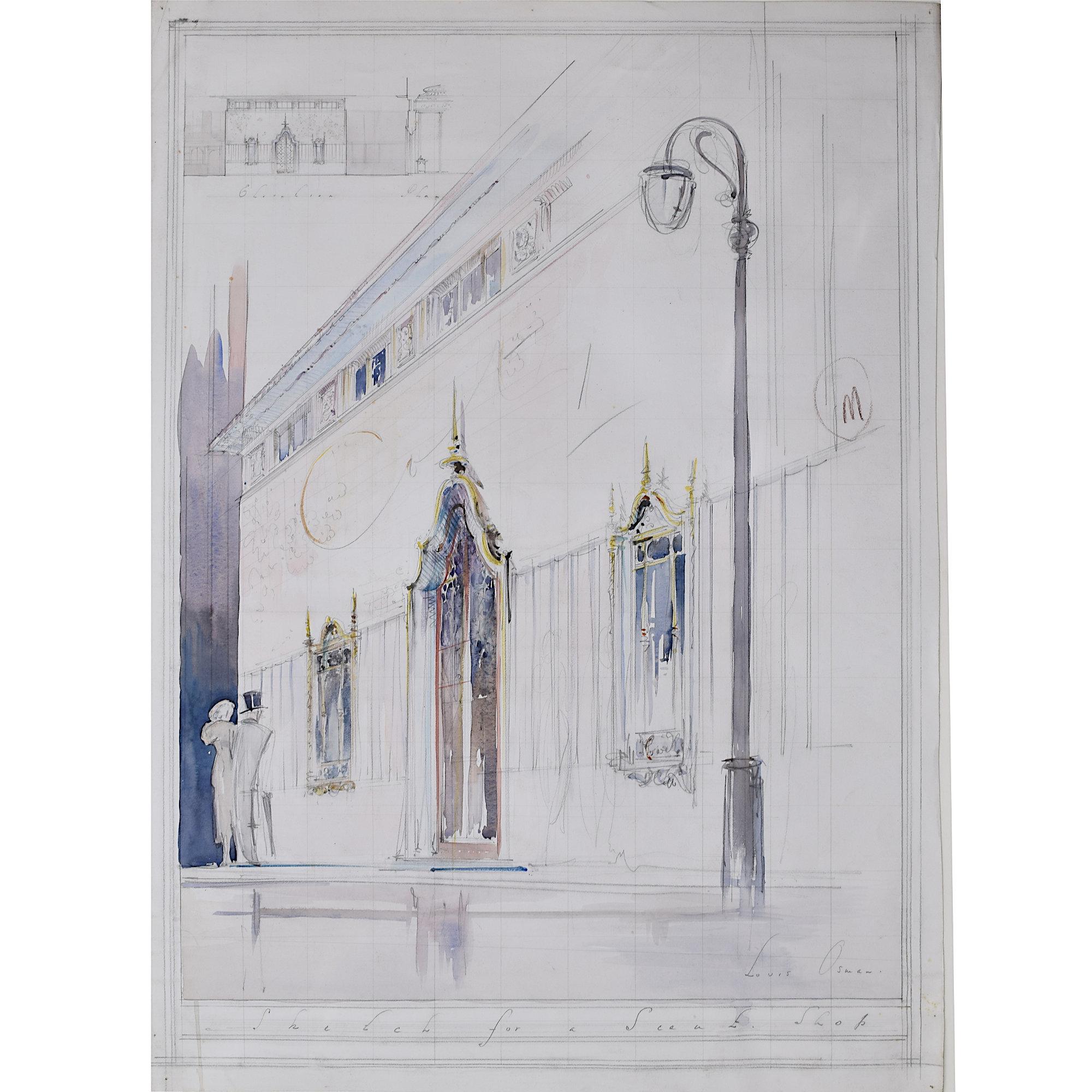 Louis Osman Architectural Design for Elegant Shop Front