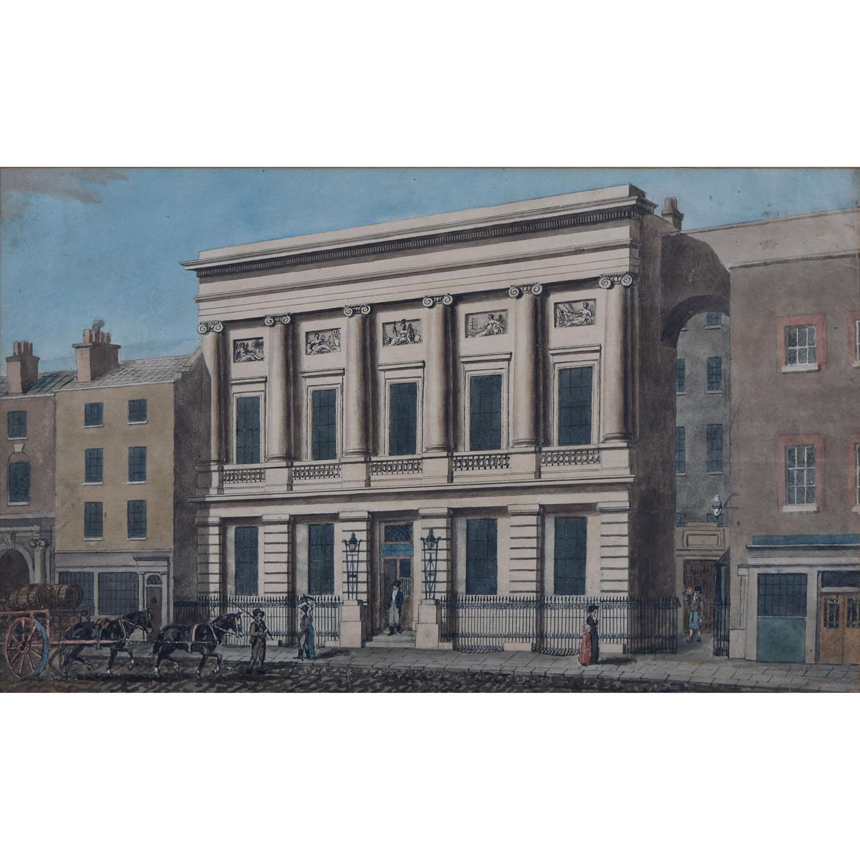 Robert Blemmel Schnebbelie The Commercial Salerooms Mincing Lane London watercolour
