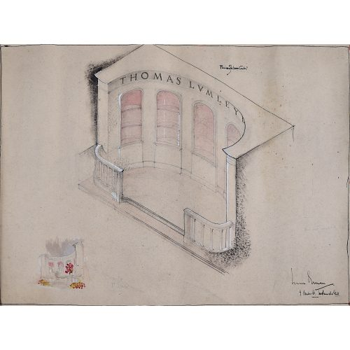 Thomas Lumley Castle wedding venue architectural drawing present