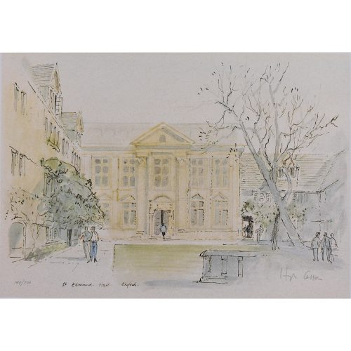 Hugh Casson St Edmund Hall Oxford limited edition print