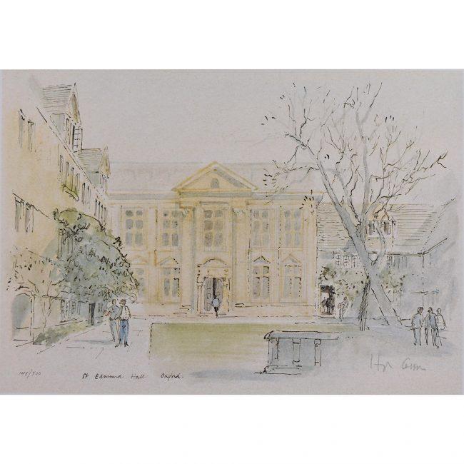 Hugh Casson St Edmund Hall Oxford limited edition print