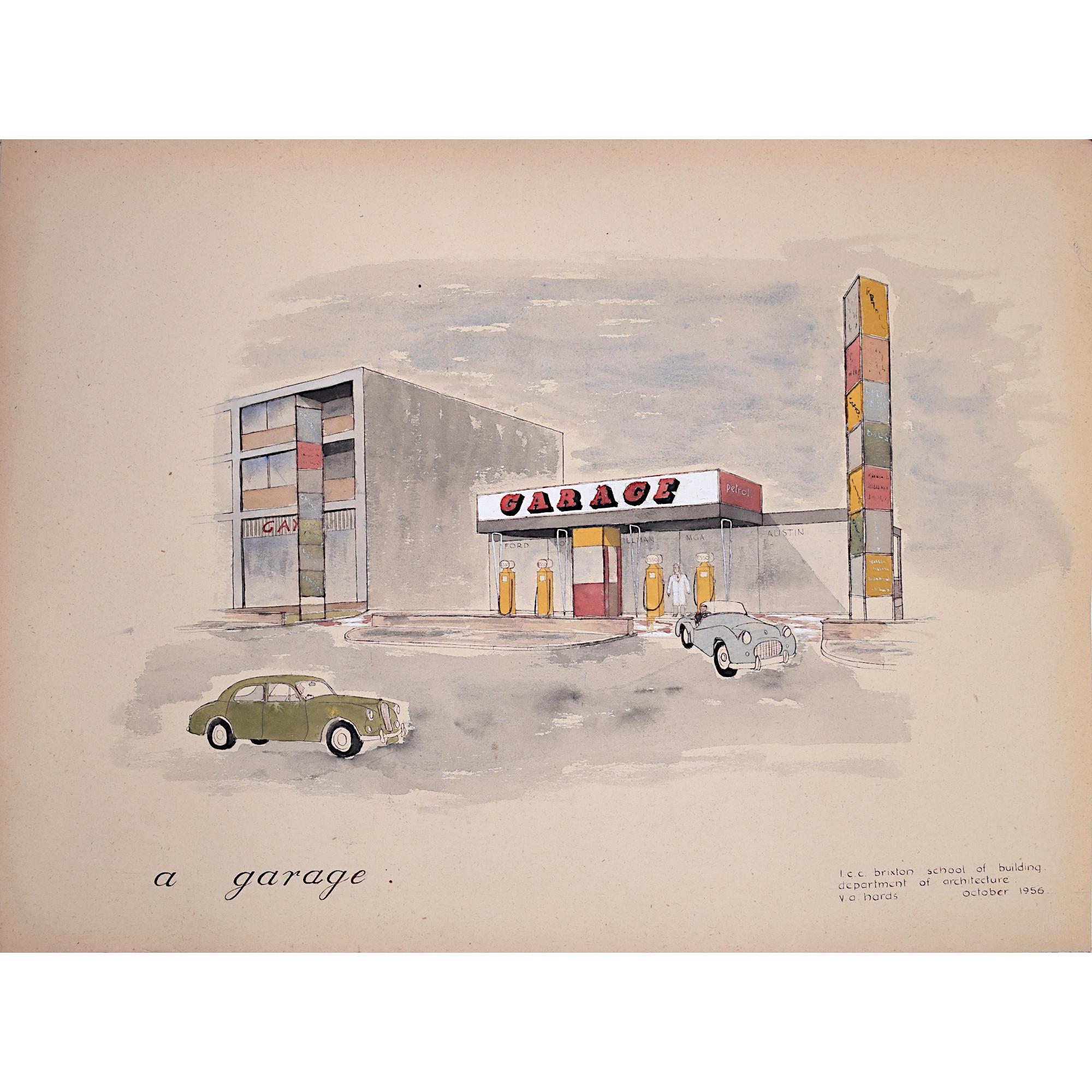 V A Hards Garage architectural drawing