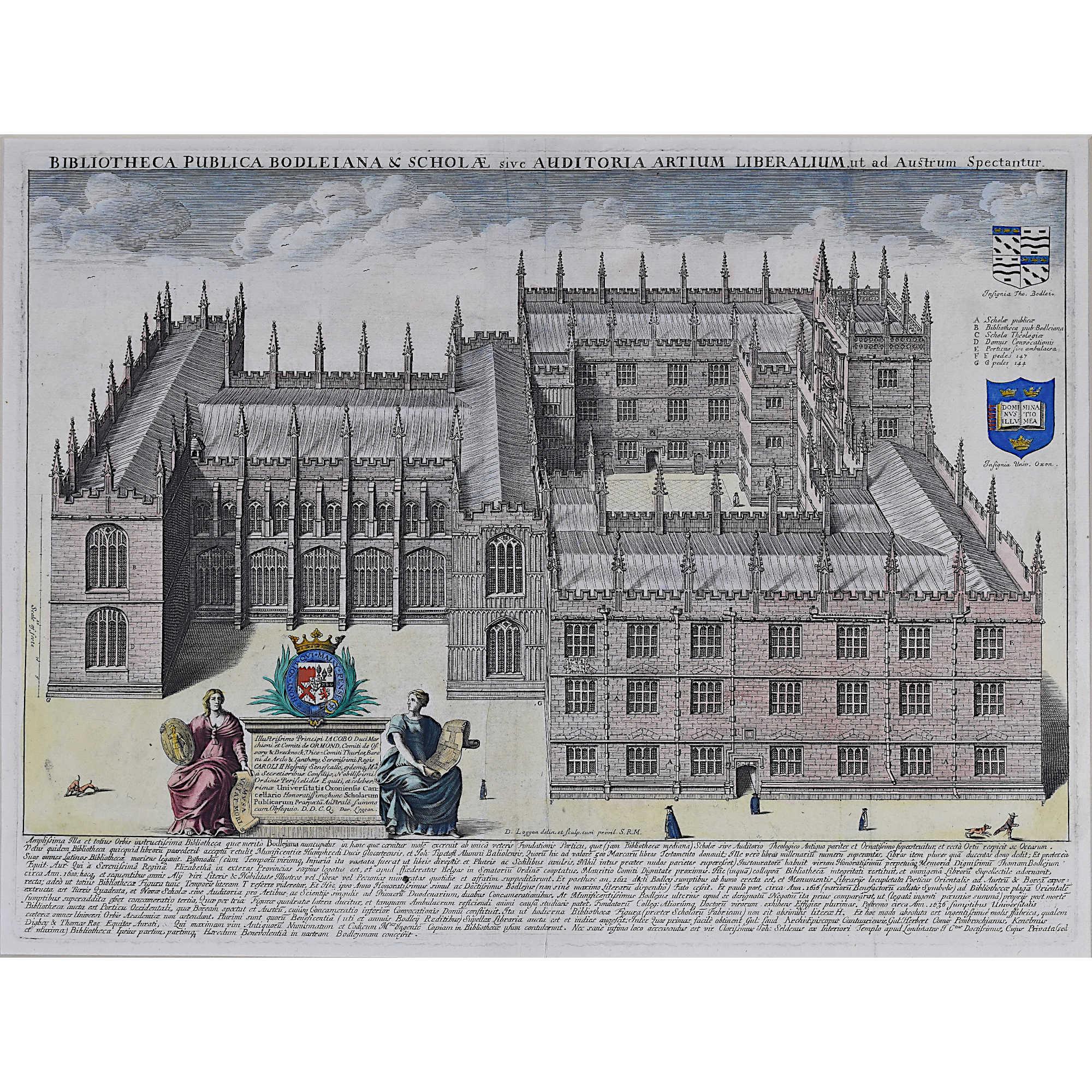David Loggan Bodleian Oxford 1675 engraving