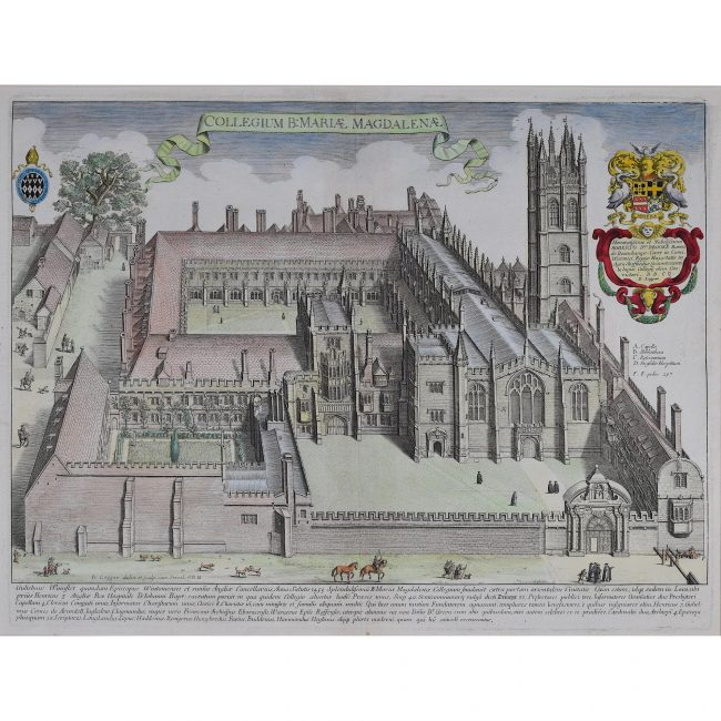 David Loggan Magdalen College Oxford engraving