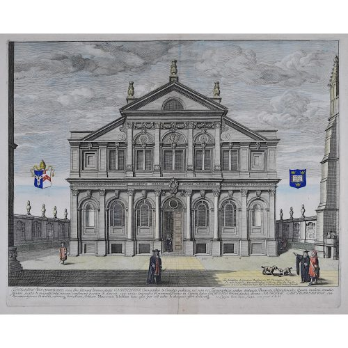 David Loggan Sheldonian Theatre Oxford 1675 engraving