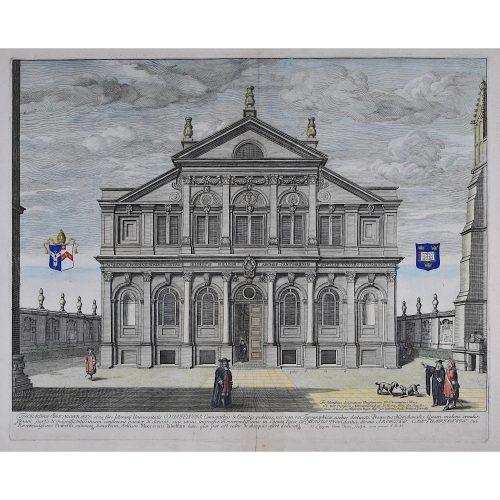 David Loggan Sheldonian Theatre Oxford 1675 engraving