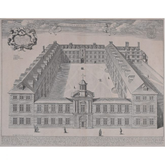 David Loggan St Catharine's College Cambridge engraving 1690