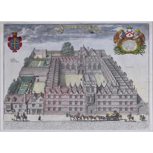 David Loggan University College Oxford engraving 1675