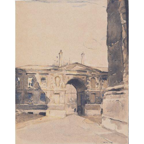 William Nicholson Christ Church Oxford lithograph