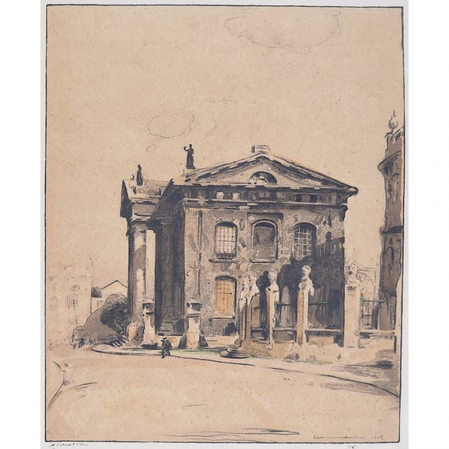 William Nicholson Clarendon Building Oxford lithograph Stafford Gallery 1905