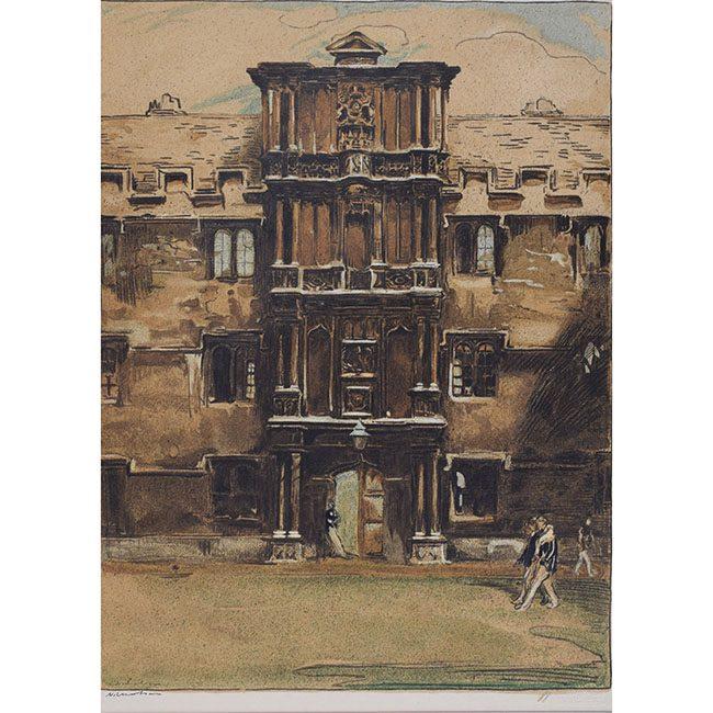 William Nicholson Merton College Oxford lithograph for sale