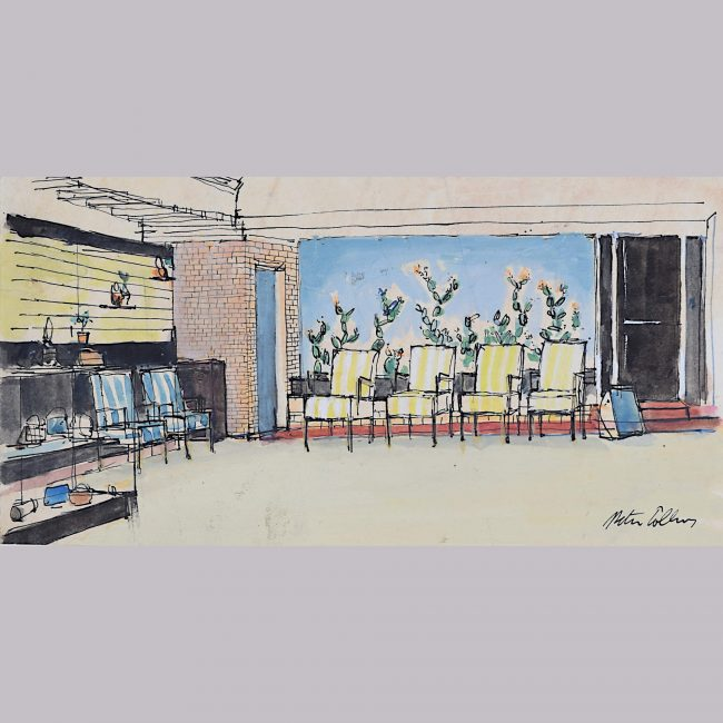 Peter Collins ARCA Mid Century Modern Lounge interior