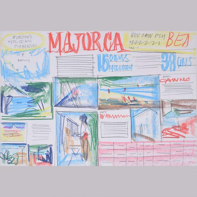 Peter Collins ARCA original design for Majorca Holiday Brochure 1966