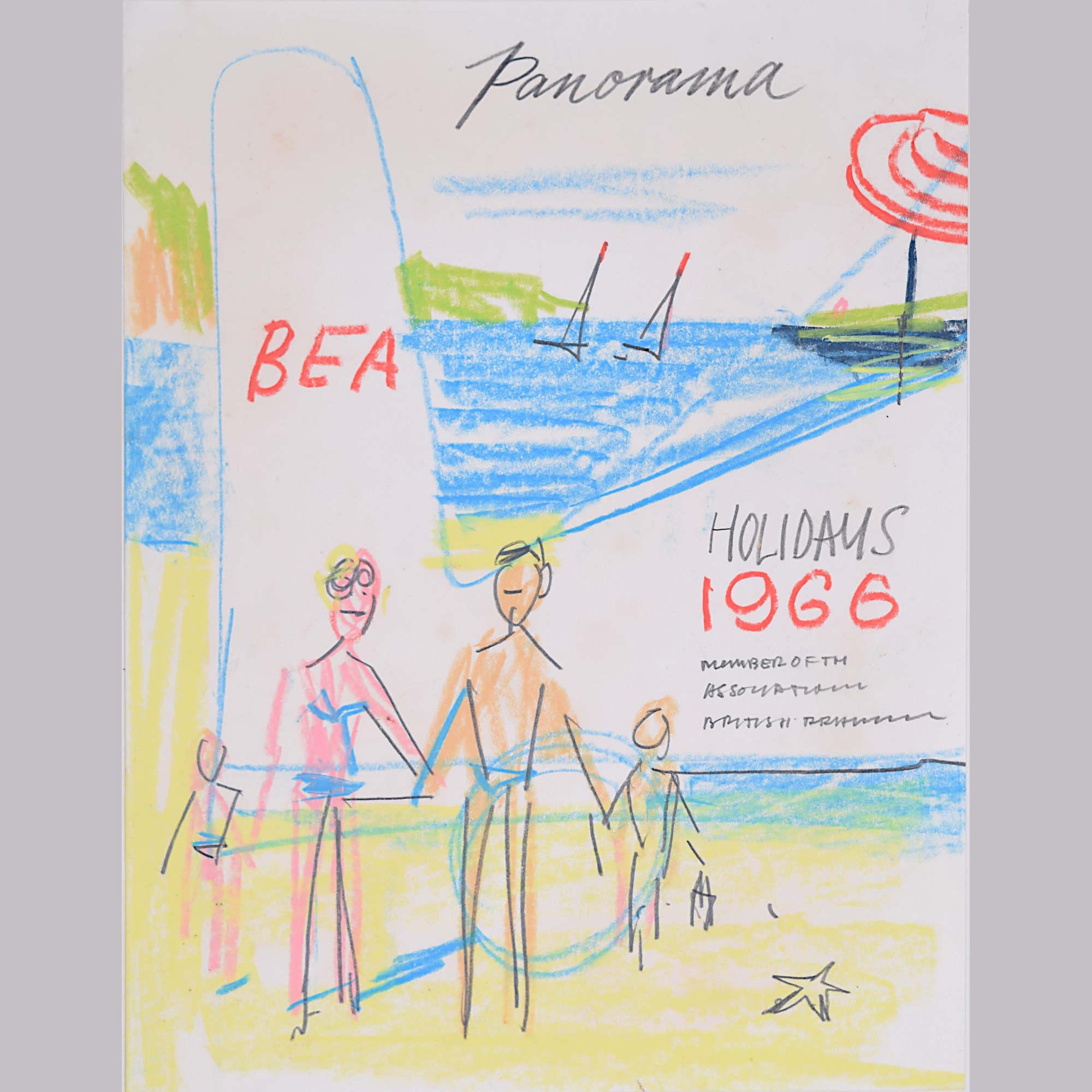 Peter Collins ARCA original design for Panorama Holiday Brochure 1966