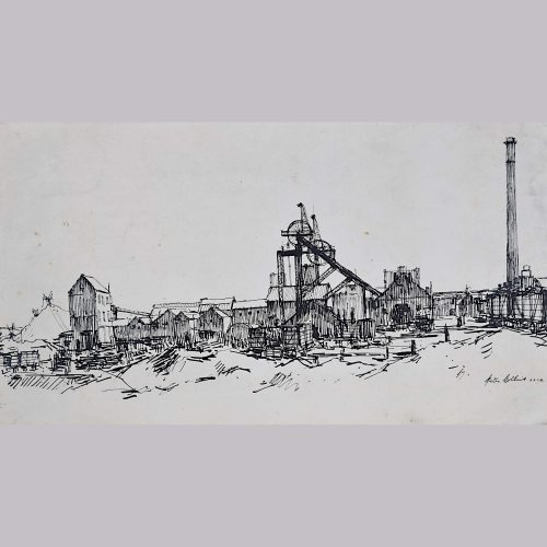 Peter Collins Colliery sketch