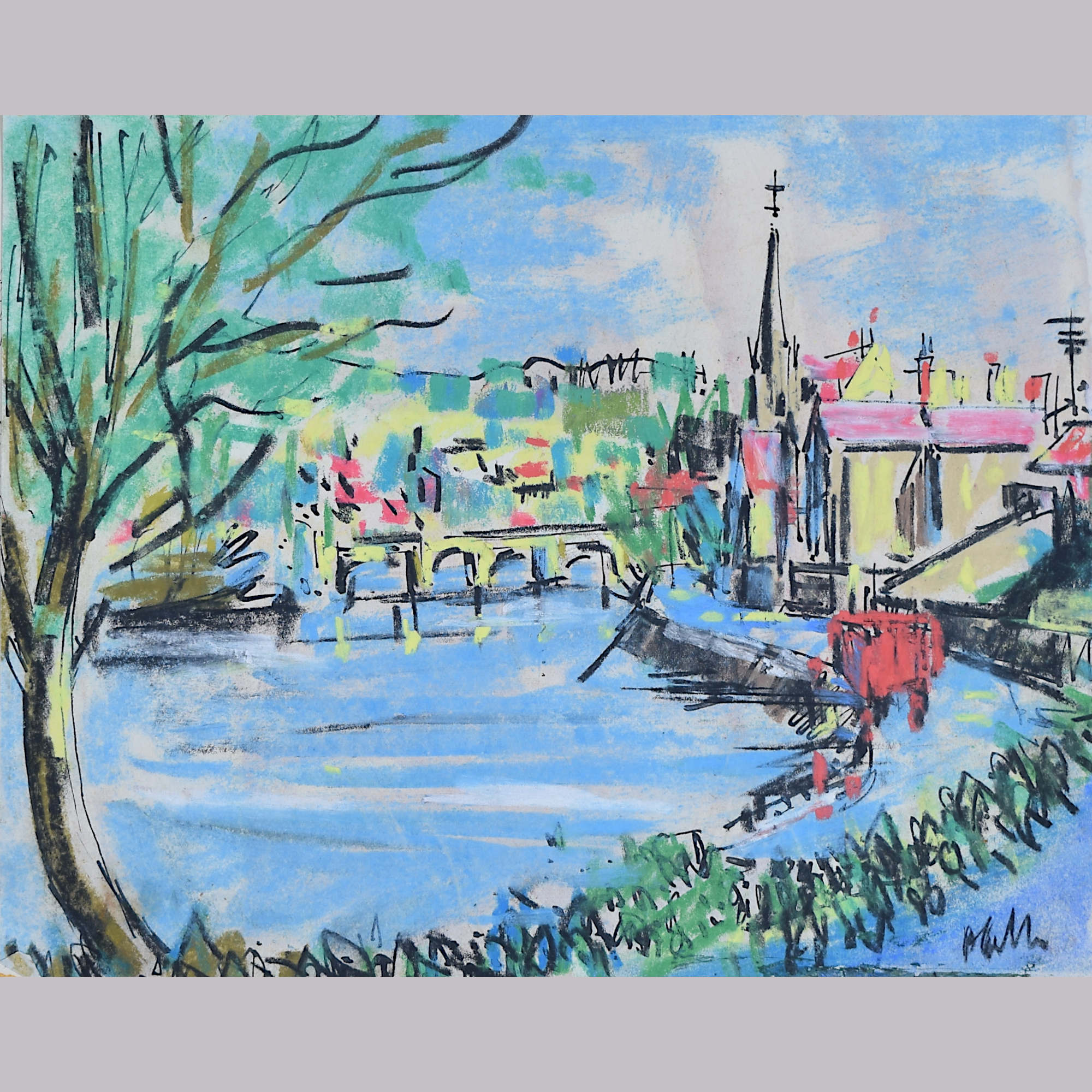 Peter Collins ARCA River Scene