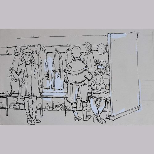 Peter Collins School Children in a Cloakroom
