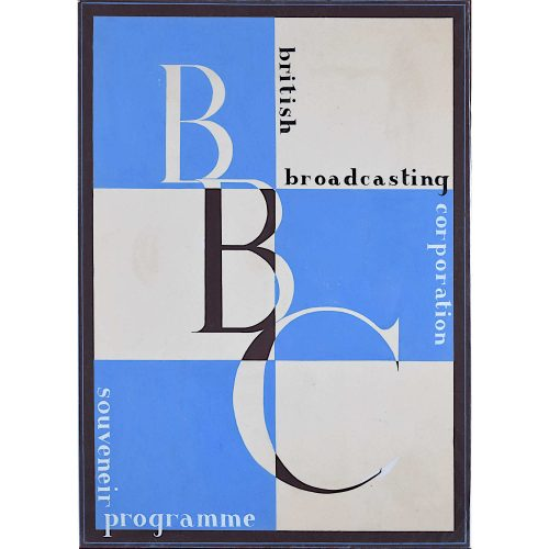 Art Deco BBC Souvenir Programme original gouache design