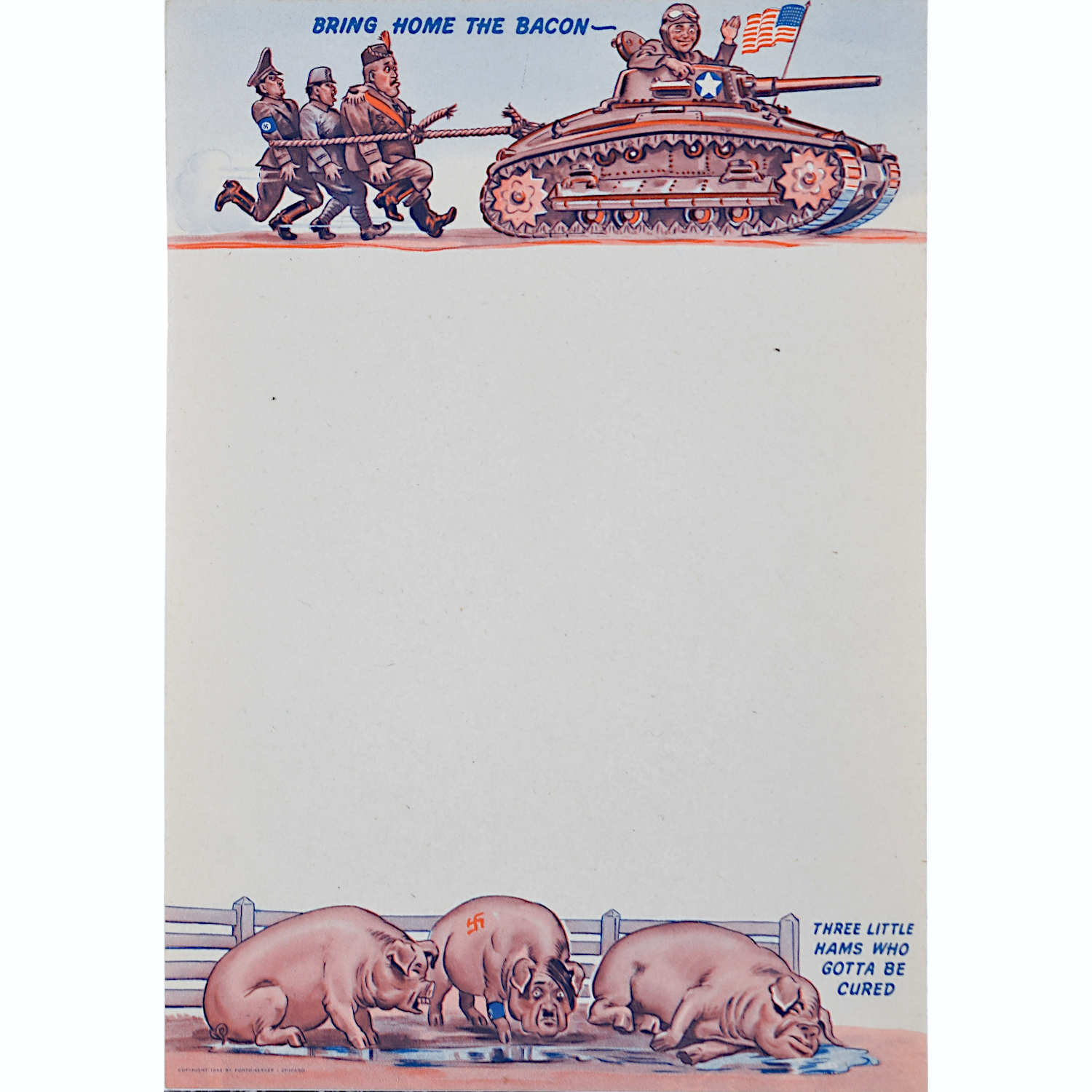 World War ii USA American propaganda writing paper for sale