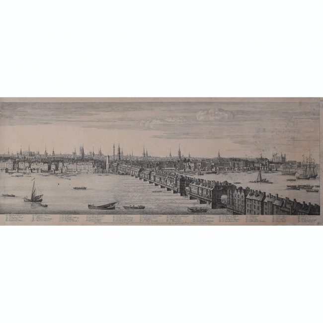 Samuel & Nathaniel Buck panorama of London from the Thames 1749