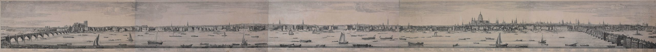 Samuel & Nathaniel Buck panorama of London from the Thames 1749 for sale