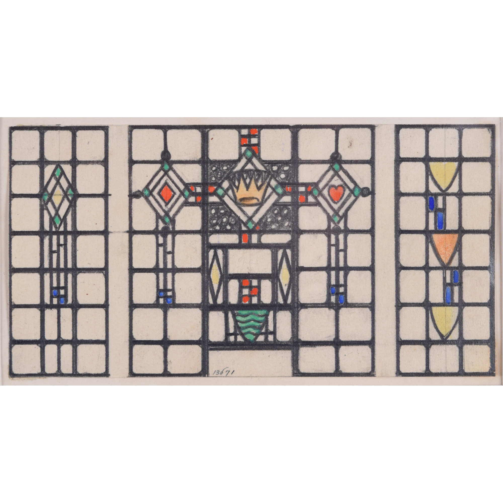 Florence Camm Domestic Stained Glass Window Design With Coronet Manning Fine Art