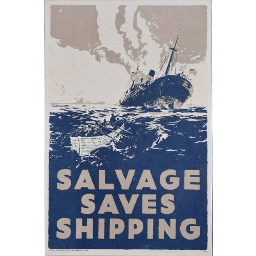 Salvage Saves Shipping World War II recycling poster