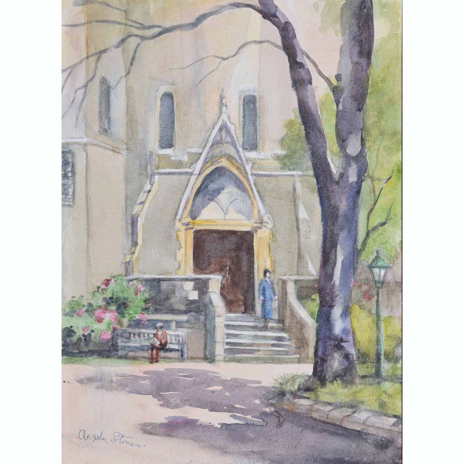 Angela Stones Holy Trinity Brompton watercolour for sale