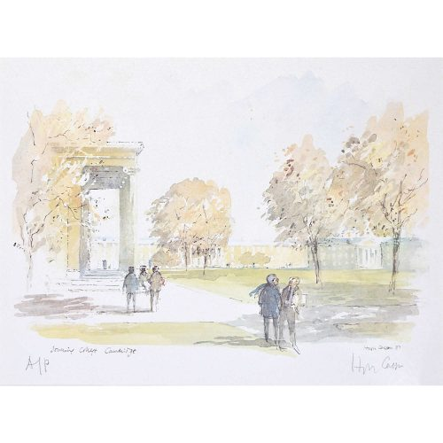 Hugh Casson Downing College Cambridge print for sale