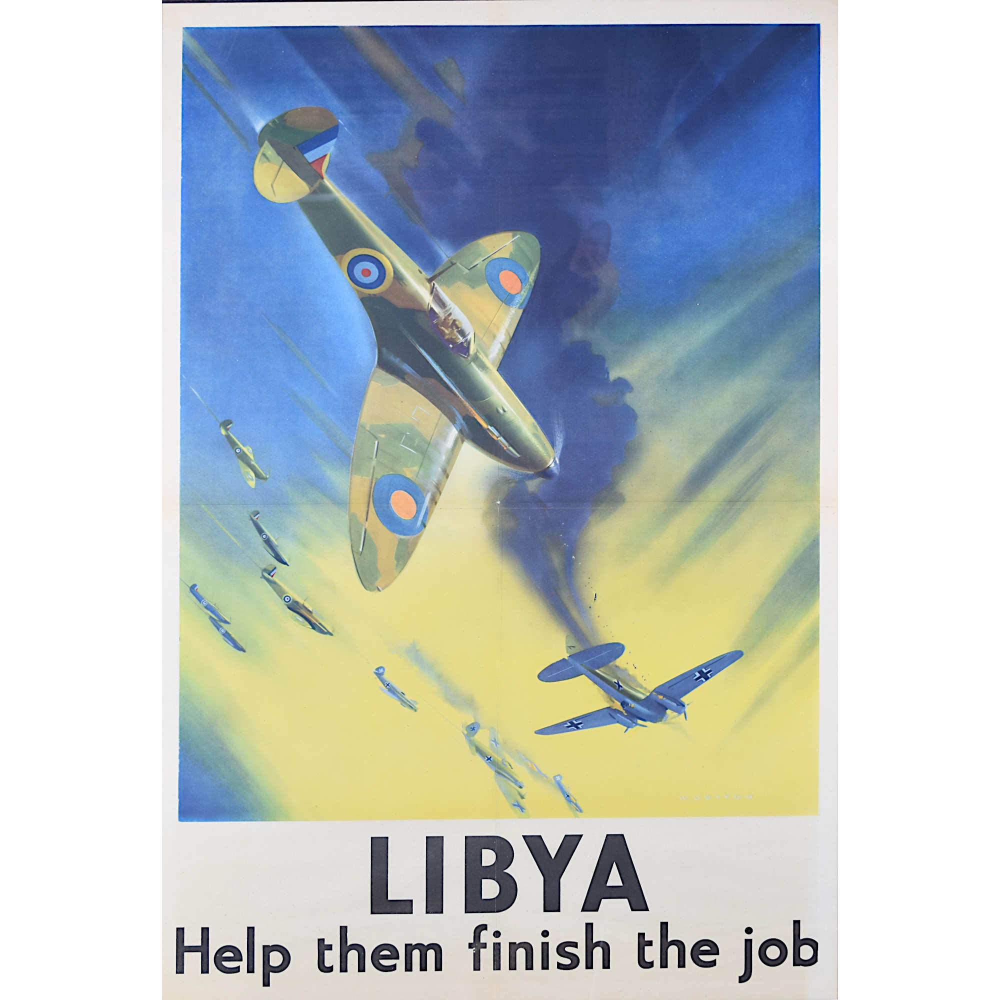 Frank Wootton original poster Libya Let them Finish the Job