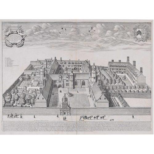 David Loggan Gonville and Caius College Cambridge for sale
