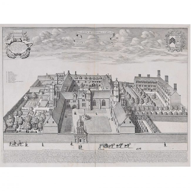 David Loggan Gonville and Caius College Cambridge for sale