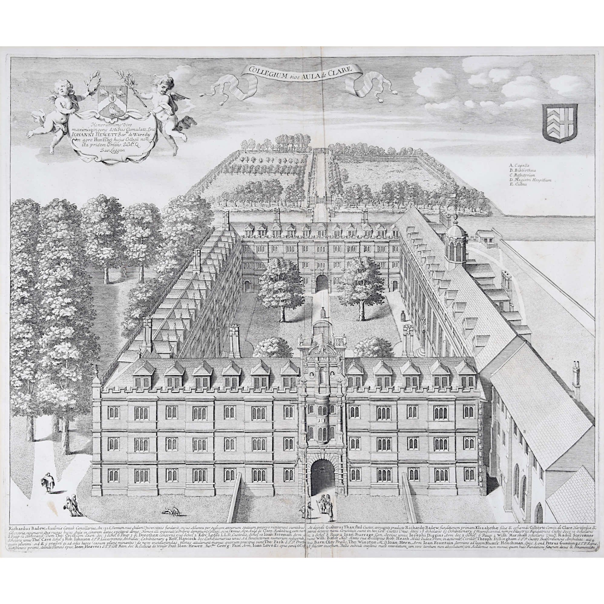 David Loggan Clare College Cambridge for sale