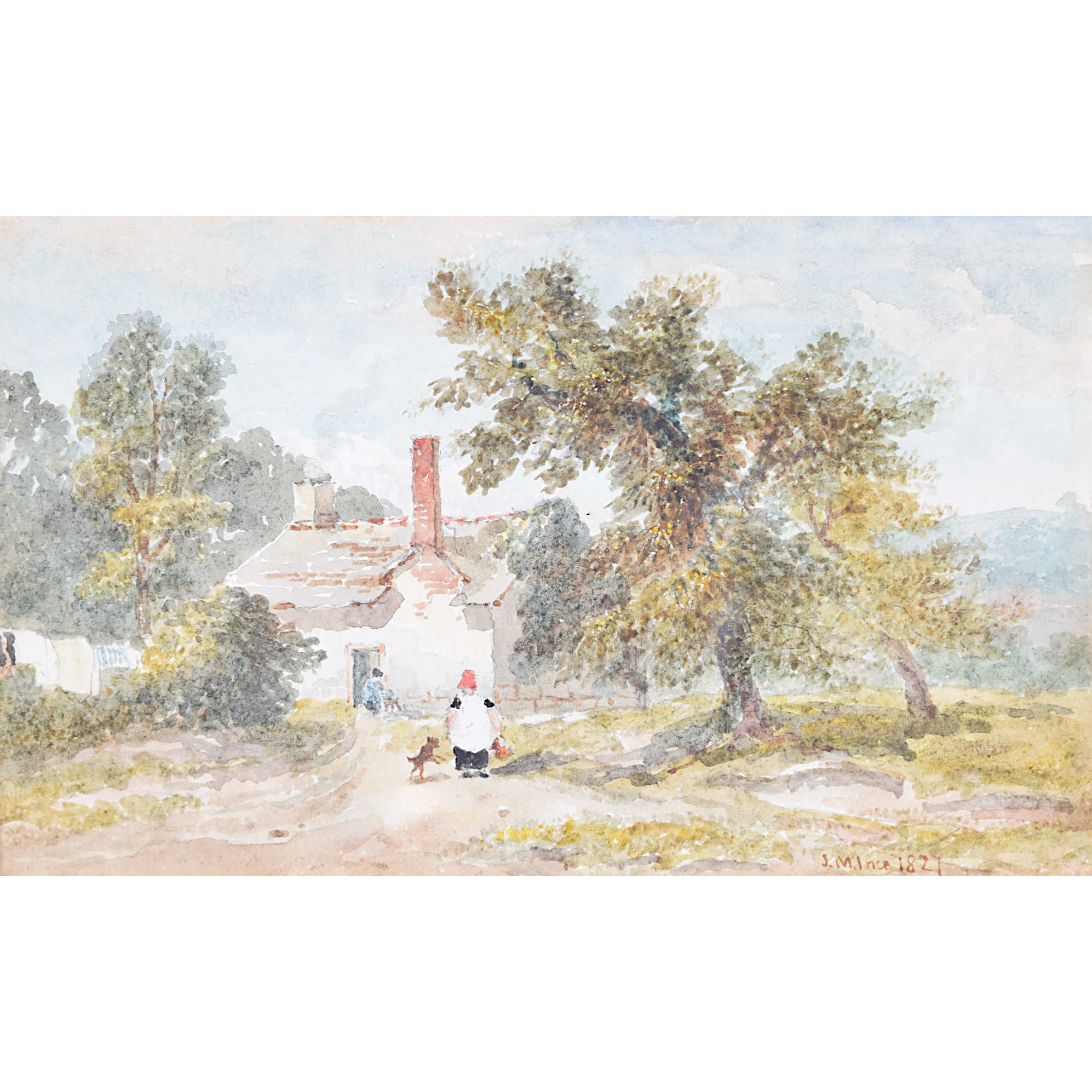 Joseph Murray Ince Summer 1827 watercolour for sale