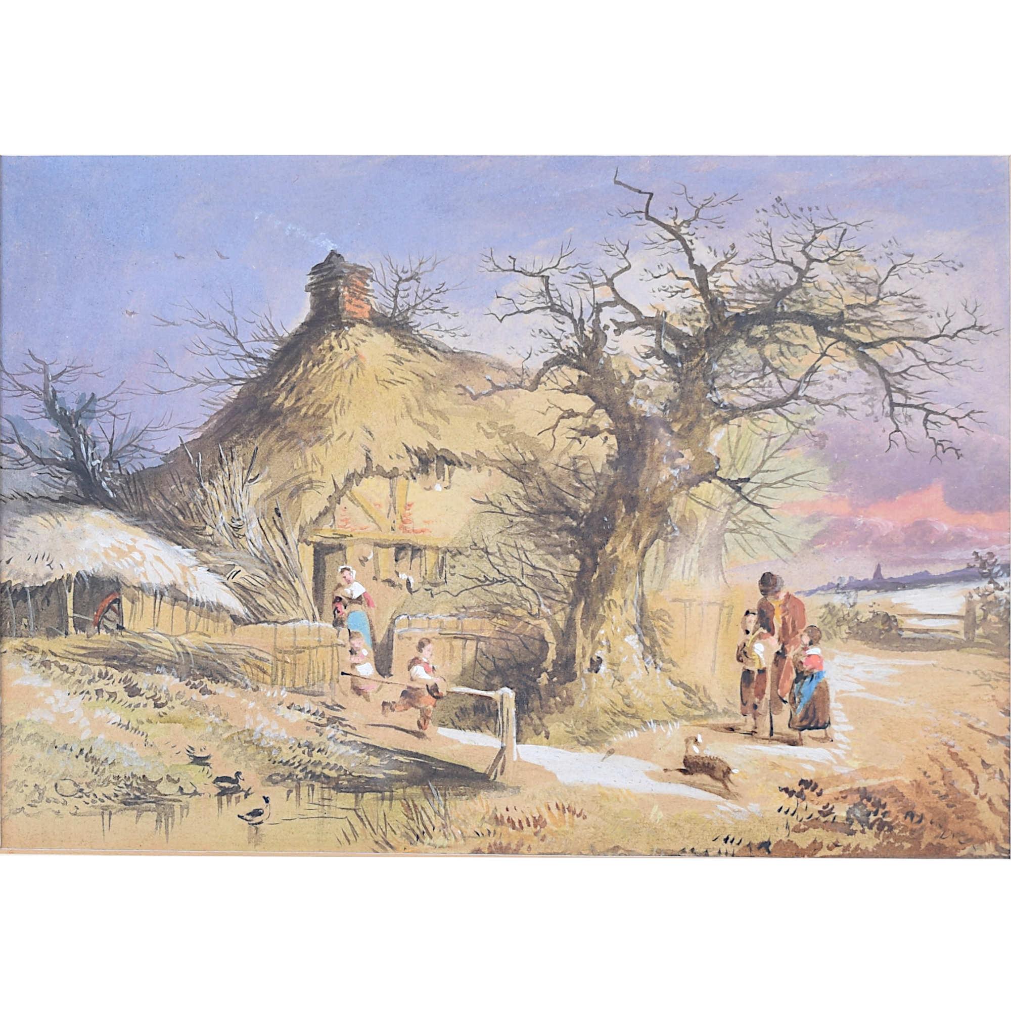 Joseph Murray Ince Winter watercolour