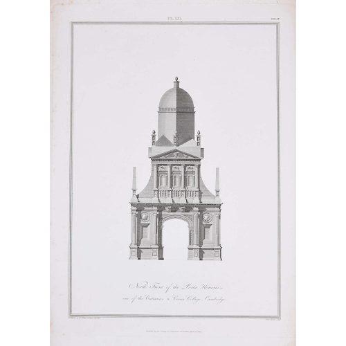 William Wilkins Gonville & Caius College Cambridge North Front of the Porta Honoris