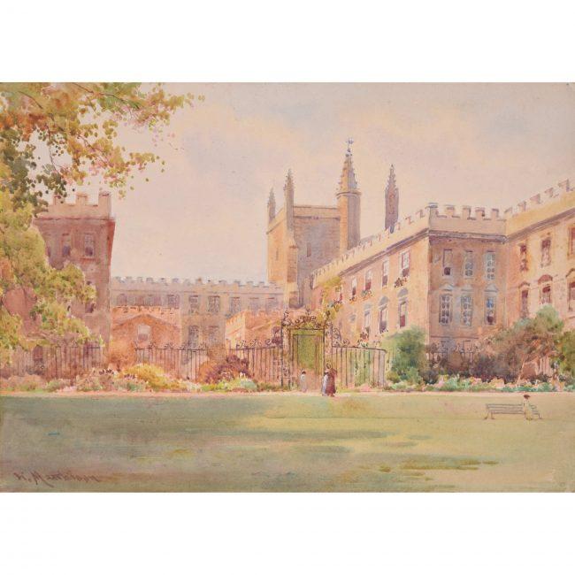 William Matthison New College Oxford watercolour