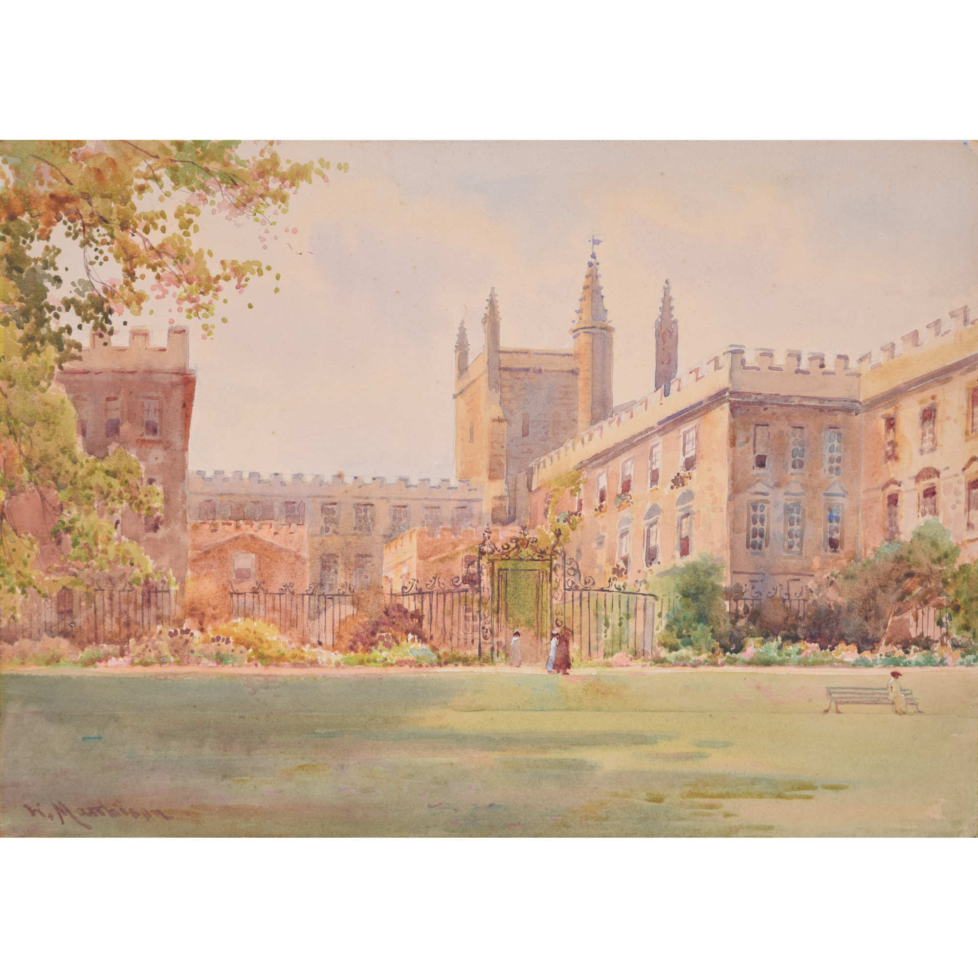 William Matthison New College Oxford watercolour