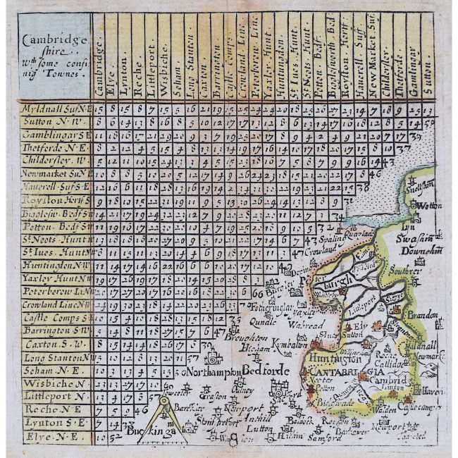 Jacob van Langeren Cambridgeshire map 1643