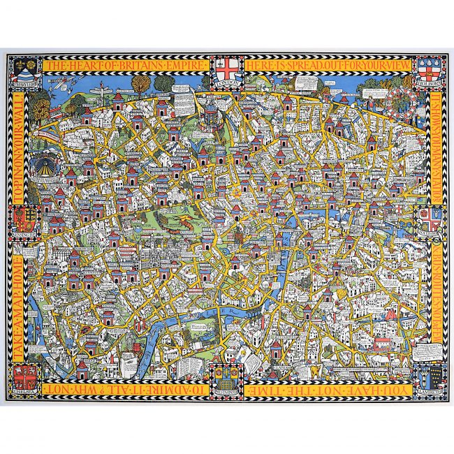 Max Gill Wonderground Map of London 1924