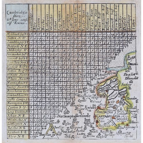 Jacob van Langeren Map of Cambridgeshire