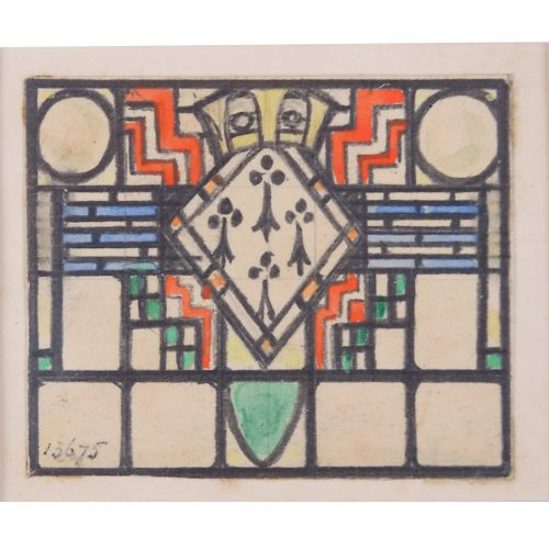 Stained Glass Window Domestic Design Florence Camm Arts & Crafts TW Camm Crown